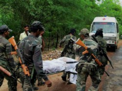Four Paramilitary Men Killed Maoist Attack Ahead Chhattisgar Polls