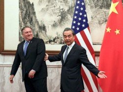 Us China Foreign Ministers Speak Uneasy Words At Joint Press Conference
