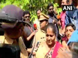 Women Forced Return From Sabarimala Temple Due Protests