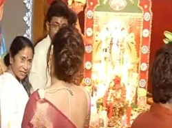 Chief Minister Mamata Banerjee Is Busy With Her Family Puja