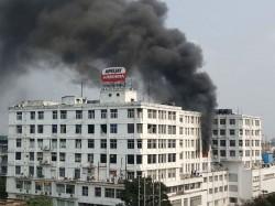 Fire Brokes At Apeejay House Park Street Kolkata