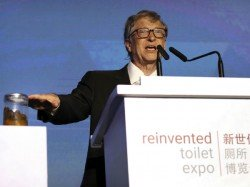 Poop Hand Bill Gates Backs Sanitation Developing Countries In A Programme In China