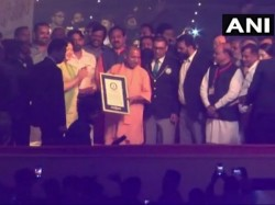 Ayodhya Deepotsav 2018 Enters Guinness Book Record Lighting 3 01 152 Earthen Lamps