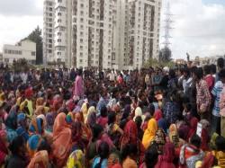 West Bengal State Cpm Protested Against Slum Dwellers Eviction Bengaluru