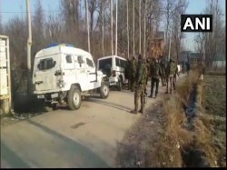 Three Hizbul Mujahideen Terrorists Killed Encounter Kashmir