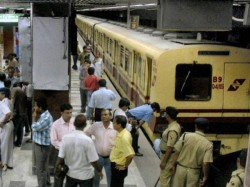 Kolkata Metro Fire Minister Sujit Basu Reaches Maidan Station
