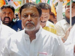 Tmcp Raised Slogan Go Back Mukul Roy At Jalpaiguri Front Bjp Party Office