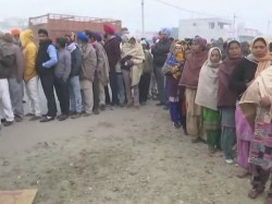 Voting Panchayat Polls Punjab Underway 8000 Candidates Fray