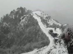 Sandakphu Highest Point The Singalila Ridge Darjeeling District Received Fresh Snowfall