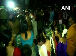 Several Women Wait At Sabarimala Base Camp Amid Protests More Arriving