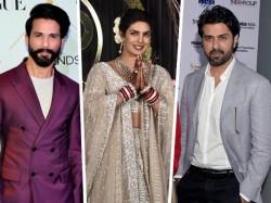 Shahid Kapoor Harman Baweja Attends Priyanka Chopra S Mumbai Reception