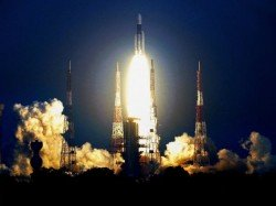 Communication Satellite Gsat 7a On Board Gslv F11 Launched