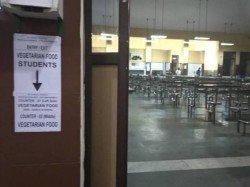 Posters Separate Entry Exit Wash Basins Veg Non Veg Students Iit Madras Creates Controversy