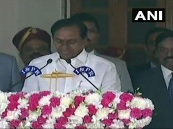 Trs Chief K Chandrashekar Rao Is Sworn In As Telangana Chief Minister