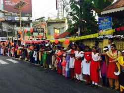Woman Wall Builds Entry Sabarimala Temple Kerala
