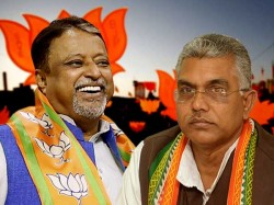 Mukul Roy Checkmates Dilip Ghosh Break Tmc Before Loksabha Election