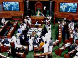 Papers Thrown At Sumitra Mahajan Speaker Suspends 26 Mp S Know What Happend In Lok Sabha Today