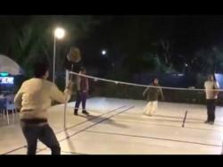 Mamata Banerjee Plays Badminton With Racket The Village Birbhum
