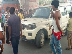 Strike Supporters Allegedly Throw Stones Pool Car Rajabazar