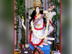 Auspicious Offerings Goddess Saraswati On Basant Panchami