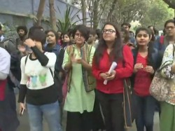 Students Jadavpur University Protest Demanding Expulsion Prof