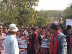 Massive Protests Tripura Against Citizenship Bill Under Royal Scion Pradyot Manikya Deb Burman