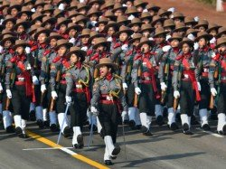 Woman Leading Parade Is Displayed On The Rajpath Delhi On Republic Day