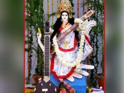Auspicious Offerings Goddess Saraswati On Basant Panchami