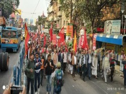Left Front Leader Biman Bose Was Active On Road Two Day Strike