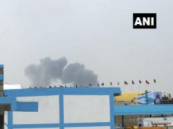 Two Aircraft The Surya Kiran Aerobatics Team Crash At The Yelehanka