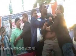 Trinamool Congress Leader Kicks Off Tmc S Women Leader Canning