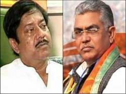 Dilip Ghosh Jyotiprioyo Mallick Engages Threaten Each Other Over Mla Murder