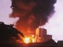 A Devastating Fire Breaks At Multistoried Building At Kasba