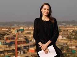 Angelina Jolie Bangladesh Visit Rohingyas