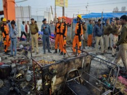 Bihar Governor Escapes Unhurt After Tent Catches Fire Kumbh Mela