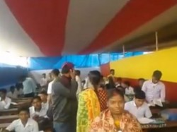 Students Give Madhyamik Examination Pandal Midnapore School