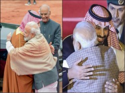 Congress Tweet Attacks Why Narendra Modi Embraces Soudi Prince Breking Protocol