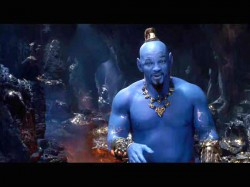 Aladdin Movie Trailer Will Smith Appears Blue Genie Avatar Form