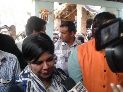 Bjp Leader Bharati Ghosh Started Her Campaign Ghatal