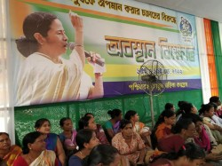 Tmc Women Cell Stage Protest Against Bjp At Kolkata Rani Rasmoni Road