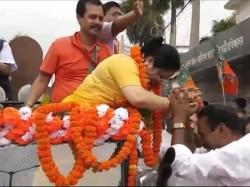 Bjp S Debashree Choudhury Files Nomination From Raigunge West Bengal