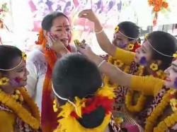 Actress Aparajita Adhya Celebrates Dolyatra