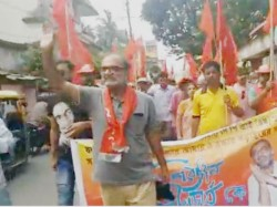 Cpm Candidate From Jadavpur Bikash Bhattacharya In Party Campaign