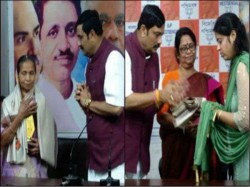 Two Martyrs Family Are Felicitated At State Party Office Bjp