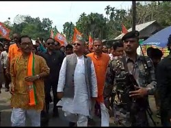 Bjp Leader Dilip Ghosh Campaigns In North Bengal