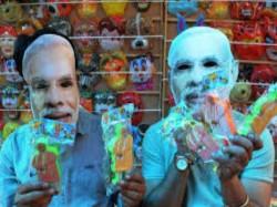 Political Leaders Musks Are On Huge Demand On Holi On The Eve Lok Sabha Elections