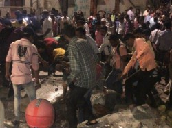 Foot Over Bridge Near Cst Mumbai Collapses Several Feared Injured
