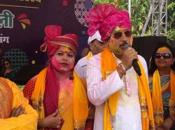 Bidhannagar Mayor Sabyasachi Dutta Took Part Holi Bidhannagar