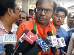 Bjp Candidate From Basirhat Sayantan Basu Party Campaign