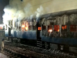 Empty Rake Falaknuma Express 12704 At Yard Santragachi Railway Station Caught Fire